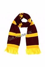 HARRY POTTER SOFT WINTER WARM WRAP SCARF GRIFFINDOR YELLOW PURPLE WOOL SCARF