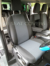 TO FIT A FORD TRANSIT 2016 LWB  VAN SEAT COVERS  FABRIC / LEATHERETTE TRIM