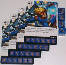 4 X SPEEDBALL ROBBIE BALDWIN 65/142 Civil War Dice Masters