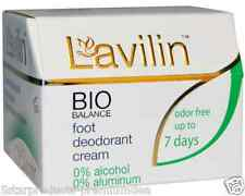 NEW LAVILIN FOOT DEODORANT CREAM ALCOHOL FREE DAILY ODOR PEOTECTION BODY CARE