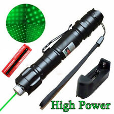 Military 5mw 10 Miles 532nm Green Laser Pointer Pen Visible Burn Beam+Battery WT