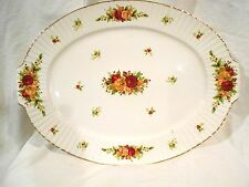 "Royal Albert Old Country Roses Holiday 19"" Platter"