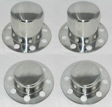 SET OF 4 NO LOGO DUALLY 8 LUG EAGLE ALLOYS WHEEL CENTER CAPS STAINLESS STEEL