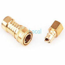"Propane / Natural LP Gas Quick Disconnect Quick Connect Coupler 3/8"" Connector"