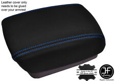 BLUE STITCHING ARMREST LID LEATHER COVER FITS KIA CARENS MK3 2006-2012