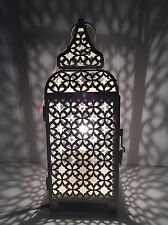 * NEW VINTAGE CREAM MOROCCAN METAL lamp lantern table home gift.
