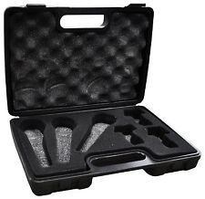 SoundLAB DJ Karaoke Storage Carry Case -Holds 3 Microphones, 3 Holders and Leads
