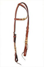 Western Natural One Ear Natural Rawhide Braided Head Stall