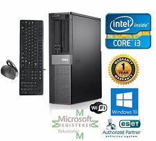 Dell Desktop Computer Intel Core i3 Windows 10 pro 64 1TB 3.3ghz 8gb Ram