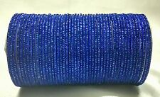 Indian Tradition 48pcs Blue Colored Royal Look Bridal Bangles Set Jewelry 2.8.