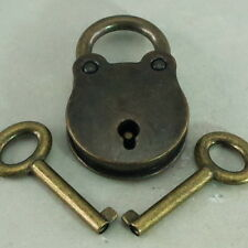 Old Vintage Antique Style Small Padlocks Key Lock - 3x