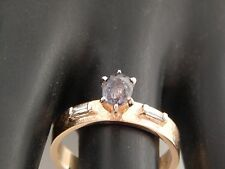 RARE Natural Color Change Alexandrite Diamond Ring .81 tcw 14k Vintage Estate