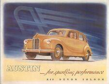 Austin A40 Devon Saloon 1947-49 Original Export Sales Brochure Pub No 389