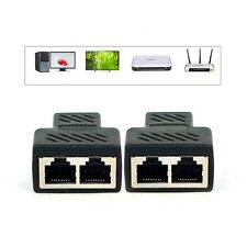 1 to 2 LAN Ethernet Network Cable RJ45 Splitter Extender Adapter Connector US