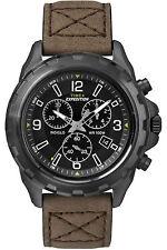 Orologio Timex T49986 Cronografo uomo in pelle marrone cassa acciaio nero