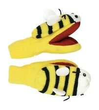 Promo Kidorable Kids Knitted Yellow Bumble Bee Mittens Childrens Gloves Knitwear