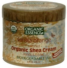 Organic Essence: Pure Organics Shea Butter Cream, Vanilla Orange 4 oz