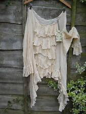 RITANOTIARA ONE SIZE CREAM PIRATE POET OVERSIZE SHIRT TOP COTTON LAYERING GYPSY