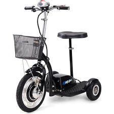 Electric Mobility Trike 36v 350w MotoTec Motor Scooter, Seat, LED light, basket