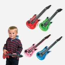 Small Inflatable Guitars / LOT OF 4 GUITARS / ROCK STAR PARTY (49/41)