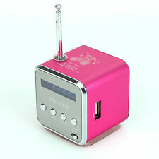 1 Mini Altavoz LCD Estéreo Música Reproductor Mp3 FM Radio USB Micro SD TF