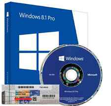 Windows 8.1 pro professional 64Bit - 1 coa license key-hologramme dvd