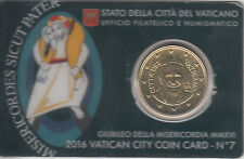 Vaticano 2016 0.50 ? euros Moneda Coin Card nº 7 Moneda  Jubileo Misericordia MM