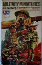 TAMIYA 1/35 SCALE BRITISH 8TH ARMY INFANTRY DESERT RATS PLAST MODEL KIT