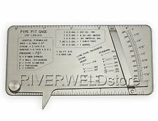 Pipe pit gage Welding gauge Test Ulnar Welder Inspection stainless steel