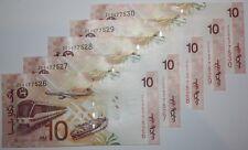 (PL) RM 10 ZE 5677526-30 UNC 5 PCS 2004 MALAYSIA ZETI REPLACEMENT NOTES