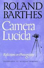 Camera Lucida : Reflections on Photography by Roland Barthes (1982, Paperback)