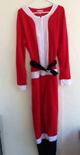 Santa Claus Pajamas Sleepwear by Under Disguise Christmas Costume Unisex Large L