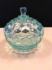 Indiana Glass Whitehall Pattern Blue Covered Candy Dish
