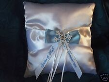 PERSONALISED WINTER WEDDING RING CUSHION