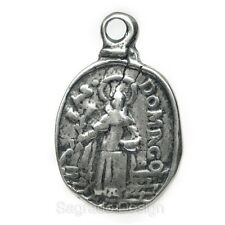 ST. DOMINIC / HOLY MAGI KING Medal, silver, cast from antique Italian original