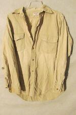 V7334 Powr House Beige Button Up 60's Rough Sanforized Shirt Men's M