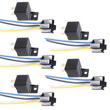 5 X Universal Black Car Auto 12V 40A 40 AMP SPST Relay Socket Plug 4P 4 Wires