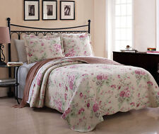 3 Piece King Sadie Rose Quilt Set