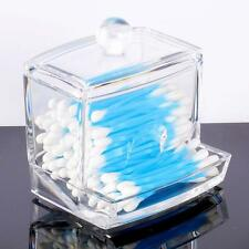 Clear Acrylic Cotton Swab Storage Q-tip Holder Box Makeup Storage DIY Container