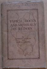 1931 Typical Rocks And Minerals In Illinois Urbana School Booklet
