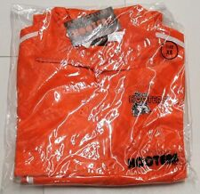 New AUTHENTIC HOOTERS Orange/White Jumpsuit Track Warm Up Suit - X-Small / XS
