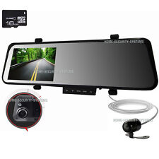 Dash Camera Rear View Mirror Cam Reversing Rear Security System Video Crashcam