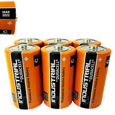 6 Duracell C Size batteries Industrial Procell Alkaline LR14 MN1400 1.5V EXP2022