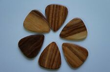 Timber Tones Luxury Wood Guitar Pick - Pale Moon Ebony - Single Pick