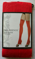 SALE RED OPAQUE LEGWARMERS THI HI STOCKINGS FOOTLESS GREAT WITH HEELS LEG AVENUE