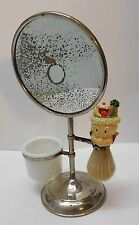 Shaving Mirror with Elmer Fudd Fruit Salad on Head Brush Acme Glass Cup Vintage