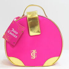 JUICY COUTURE BRIGHT PINK & GOLD VANITY CASE / COSMETICS TRAVEL MAKE-UP BAG