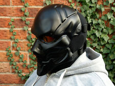Ha Goliath full face NERO (m) Airsoft BB Esercito Cosplay DJ Rave Mask-IN STOCK -