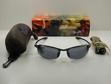 MAUI JIM MAKAHA READER POLARIZED G805N-0220 SUNGLASSES BLACK/GREY LENS 2.0X
