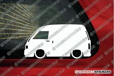 2X Lowered JDM car outline stickers - for Daihatsu Hijet (s80, S82 ) panel van